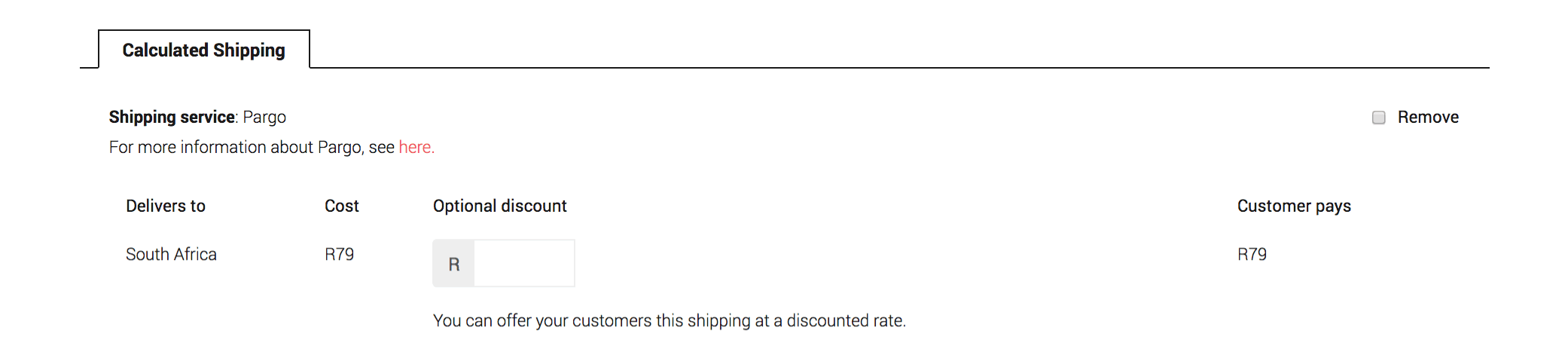 Add Product - Calculated Shipping