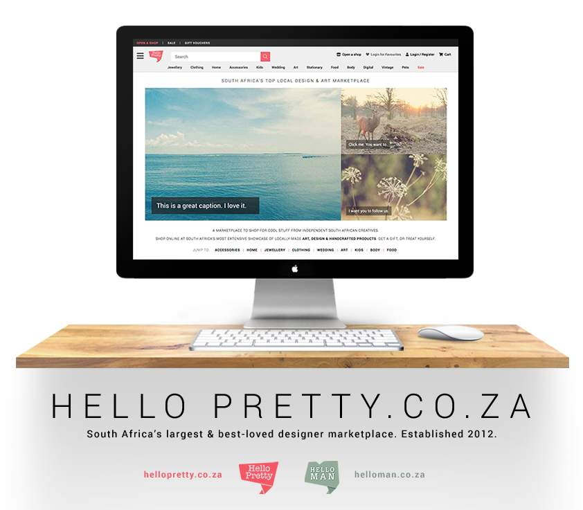 Hello Pretty. South Africa's Top Designer Marketplace