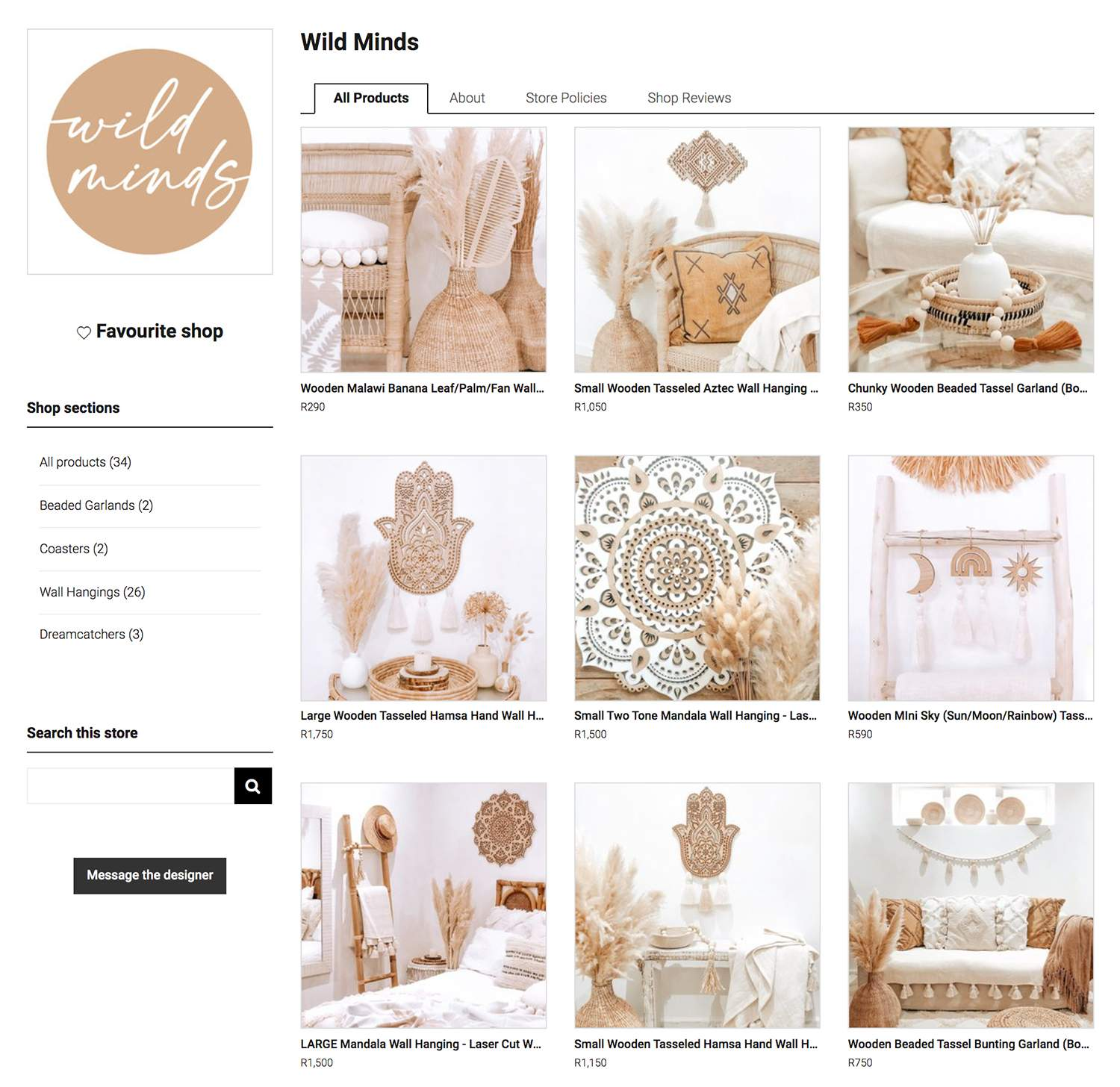 Wild Minds Store Look & Feel